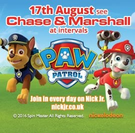 Paw Patrol- 17th August 2016