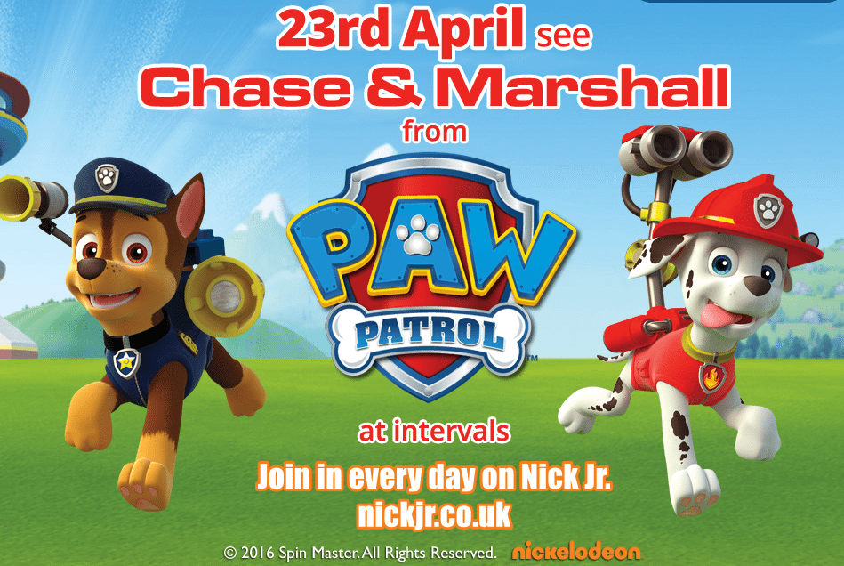 Chase and Marshall from PAW Patrol Breakfast - TWINLAKES