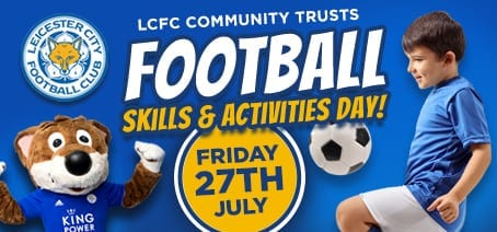 LCFC Community skills football day - event box